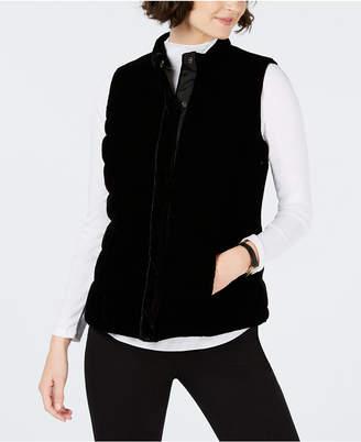 Charter Club Petite Velvet Quilted Vest
