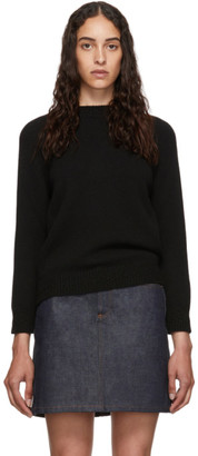 A.P.C. Black Wool Wicklow Sweater