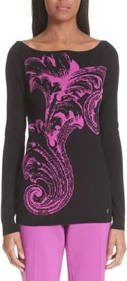 Versace Intarsia Graphic Sweater