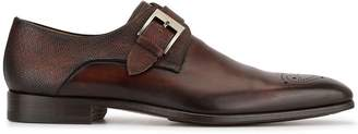 Magnanni perforated detail monk shoes