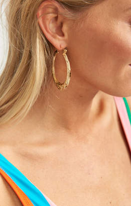 MUMU Annika Textured Hoop Earrings ~ Gold