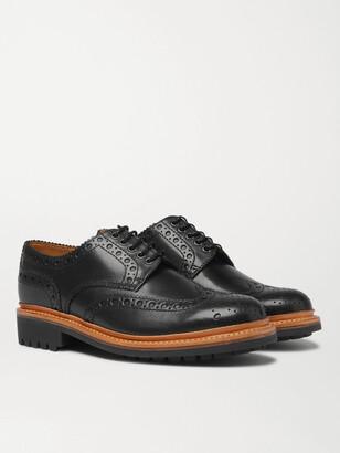 Grenson Archie Leather Wingtip Brogues - Men - Black