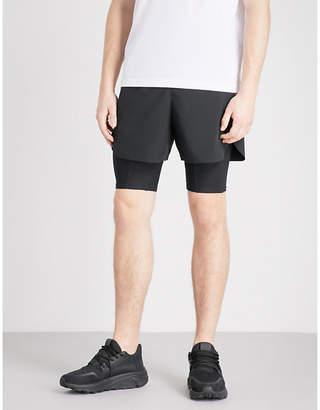 BLACKBARRETT Side-stripe shell shorts