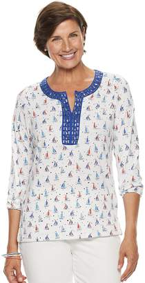Women's Cathy Daniels Embellished Sailboat Top