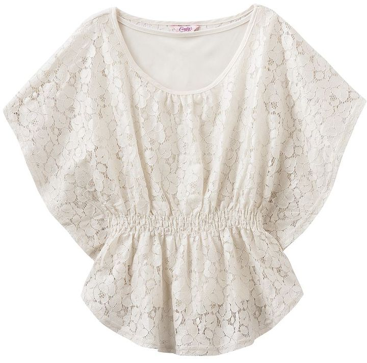 Candie's lace butterfly top - girls 7-16