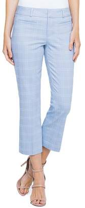 Liverpool Vera Windowpane Straight Crop Pants