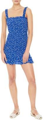 Faithfull The Brand Del Mar Smocked Minidress