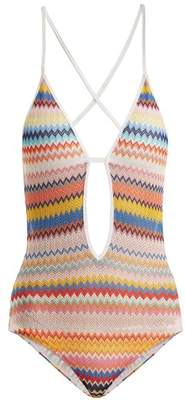 Missoni Mare - Zigzag Knit Swimsuit - Womens - Rainbow