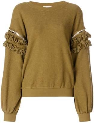 Ulla Johnson fringed sleeves sweatshirt