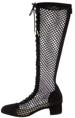 Christian Dior Naughtily-D Suede Knee-High Boots