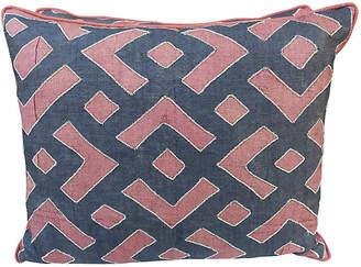 One Kings Lane Vintage Rust & Black Kuba Cloth Pillows - Set of 2