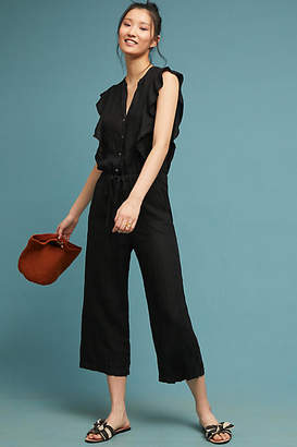 Velvet by Graham & Spencer Ruffled Linen Jumpsuit