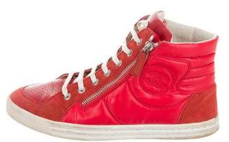 Chanel Leather High-Top Sneakers
