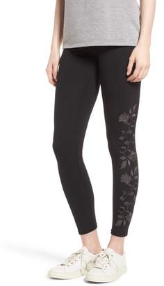 Yummie Floral Embroidered Ankle Leggings