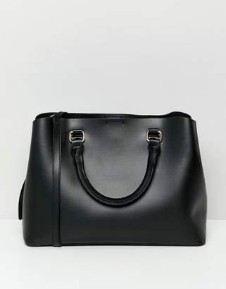 Bershka shopper bag in black