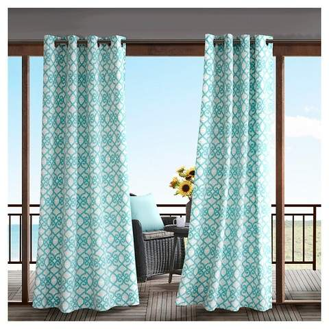 3M Pismo Printed Fretwork 3M Scotchgard Outdoor Panel Aqua - 50x84