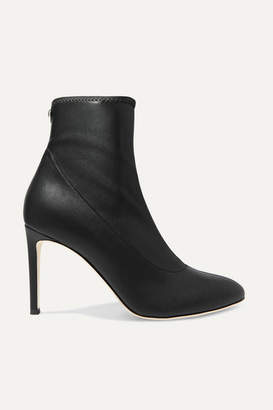 Giuseppe Zanotti Celeste Leather Sock Boots - Black