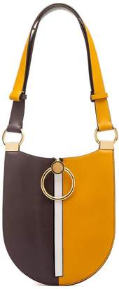 Marni Earring Small Tri-coloured Smooth-leather Shoulder Bag