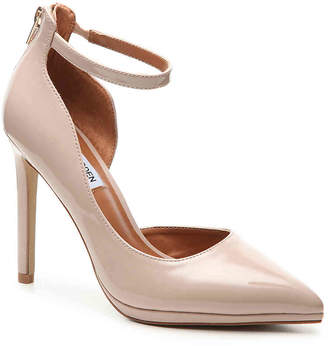 Steve Madden Hartly Platform Pump -Nude Faux Patent Leather - Women's