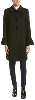 Sofia Cashmere Sofiacashmere Bell-Sleeve Wool-Blend Coat