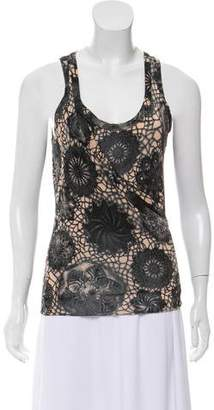 Jean Paul Gaultier Lace-Accented Tank Top