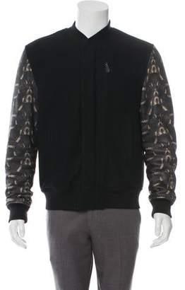 Marcelo Burlon County of Milan Virgin Wool Animal Print Bomber Jacket