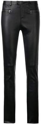 Sylvie Schimmel mid rise leather trousers