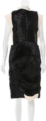 Bottega Veneta Ruffled Wool Dress