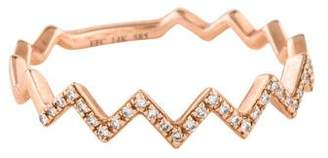Ef Collection 14K Diamond Zig Zag Stack Ring
