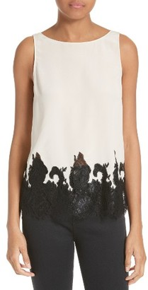 Women's Alice + Olivia Marge Silk Shell $295 thestylecure.com