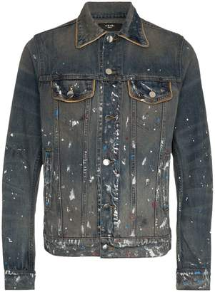 Amiri Artist paint print denim jacket