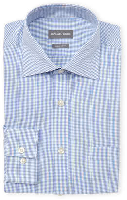 Michael Kors Stream Check Regular Fit Dress Shirt