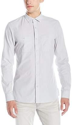 Armani Exchange A|X Men's Long Sleeve Double Pocket Button Down Shirt