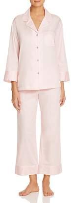 Natori Cotton Satin Notch Pajama Set $140 thestylecure.com