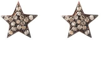 Rosegold Latelita - Diamond Star Stud Earring