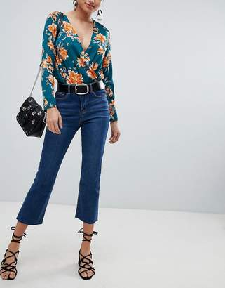 Missguided Cropped Flare Jeans