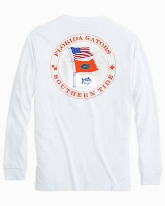 Southern Tide Gameday Nautical Flags Long Sleeve T-shirt - University of Florida