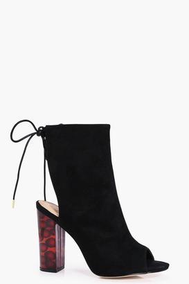 Olivia Tortoiseshell Peeptoe Shoe Boot