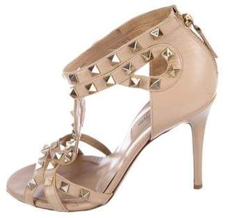 Valentino Rockstud Leather Multistrap Sandals