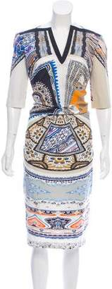 Etro Gathered Printed Dress