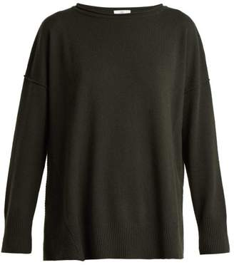 Allude Wool And Cashmere Blend Sweater - Womens - Khaki