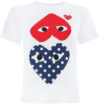 Comme des Garcons hearts print T-shirt