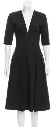 Narciso Rodriguez Pleated Poplin Dress