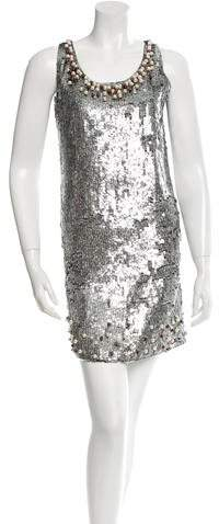 RED Valentino Red Valentino Sequined Mini Dress