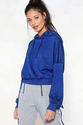 Nasty Gal Put It to the Test Ruched Hoodie