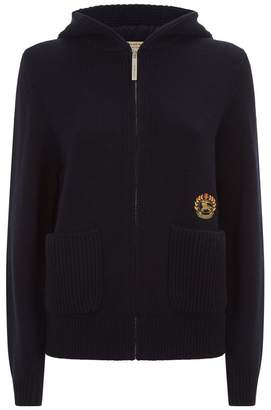 Burberry Archive Logo Zipped Cashmere Hoodie