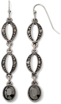 Liz Claiborne Marcasite-Look Long Earrings