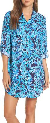 Lilly Pulitzer R) Natalie Shirtdress Cover-Up