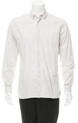 Kris Van Assche Mélange Button-Up Shirt