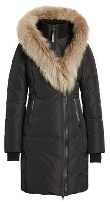 Mackage 800 Fill Power Down Coat with Genuine Fox Fur Trim
